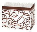 Blank Chocolate Drizzle Small Basket Box, 6.75