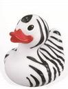 Custom Rubber Safari Zebra Duck, 3 3/8