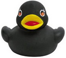 Custom Mini Rubber Black Duck, 2 1/2