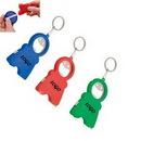 Custom Multifunctional Bottle Opener/TapeMeasure/Flashlight With Key Ring, 3.3