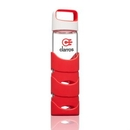 Custom The Asana Glass/Silicone Bottle - 19oz Red