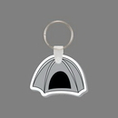 Custom Key Ring & Punch Tag - Dome Camping Tent