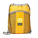 Custom The Leader Drawstring Bag - Yellow, 14.0