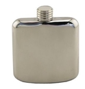 Custom Sleekline Pocket Flask, 4 oz., Polished Stainless Steel, 4 1/8