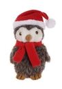 Custom Plush Owl With Christmas Scarf and Hat 8
