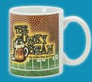 Custom 11 Oz. Ceramic Sublimation Mug In Football Stock Art, 4 3/4