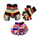 Custom Adult Rainbow Thick Double Layer Acrylic Knitted Gloves (Mixed Color), 8.7
