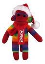Custom Rainbow Sock Monkey (Plush) with Christmas Scarf and Hat 16