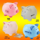 Custom Color Ceramic Collectible Mini Cute Piggy Bank, 3.75