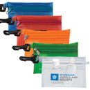 Custom Translucent Zipper Storage Pouch Bag with Plastic Hook, 4 7/8