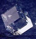 Custom Crystal Standing Cube Paper Weight (2