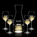 Custom Portofino Carafe & 4 Wine