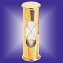 Custom Solid Brass 3 Minutes Sand Timer, 3.5