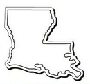 Custom Louisiana Notekeeper Magnet- 35 Mil Process Color (2-5/8