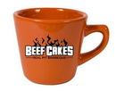 Custom 7 oz. Mini Funnel Tangerine Orange Mug, 3.25