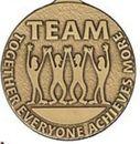 Custom 500 Series Stock Medal (TEAM) Gold, Silver, Bronze
