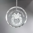 Etched Enamel Custom Ornament - Engraved, 3