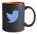 Custom 11 Oz. Hilo C-Handle Mug (Matte Black/Orange)