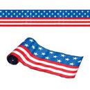 Custom Satin Patriotic Stars & Stripes Fabric Table Runner, 9 1/4