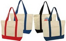 Custom Deluxe Zippered Cotton Canvas Tote Bag (22