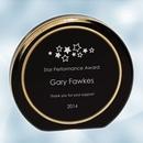 Custom Black/Gold Ring Aurora Acrylic Award - Small, 3 1/2