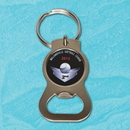 Custom Metal Bottle Opener with Screen Printed Center -USA Made, 2 1/4