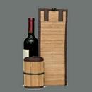 Custom Bamboo Wine Bag for single bottle (Screen printed)