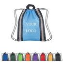 Custom Reflector Drawstring Backpack, 13 1/2