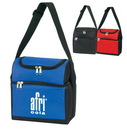 Custom B-6513 Fully Insulated, Two Insulated Compartments, Open Front Pocket, Back Mesh Pocket, Adjustable Shoulder Strap