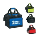 Custom B-6517 Insulated Cooler with Large Front Zipper Pocket, Large Side Mesh Pocket, Velcro Hand Grip