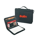 Custom B-8109 Poly Zipper Binder Padfolio600D Polyester w/Heavy Vinyl Backing