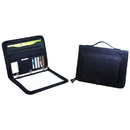 B-8114 Zippered Binder Padfolio 600D Polyester w/Heavy Vinyl Backing