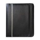 Custom B-8120 Zippered Padfolio, Simulated Leather