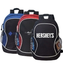 Custom B-8450 Deluxe Poly Backpack Material: 600D Polyester w/Heavy Vinyl Backing