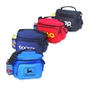 B-8517 Poly Cooler Bag with Front Pocket and Zippered Closure 600D Polyester with Heavy Vinyl Backing