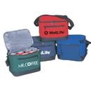 Custom B-8523 6 Pack Cooler Bag with Detachable Leak-Proof Liner Open Mesh Pocket On Back