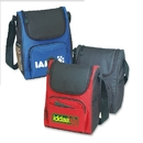 Custom B-8524 6 Pack Cooler Bag with Front Zippered Sleeve Pocket, Double Zippered Main Compartment