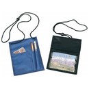 Custom B-8605 Badge Holder Clear Badge Holder In Front Card Holder & Pen Holder In Back Adjustable Neck Cord 420D Nylon