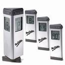 Custom CM-1009 Brushed Aluminum Revolving Prism Shaped Digital Clock w/Heavy Metal Base Display Year, Time, Date & Week