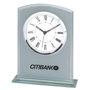 Custom CY-1102 Rectangle Glass Alarm Clock with Roman Numueral Numbering, Battery Not Included