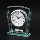 Custom CY-1103 Trapezoid Glass Alarm Clock with Roman Numeral Numbering, Battery Not Included
