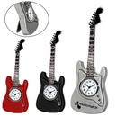 Custom CY-1156 Guitar Clock with Flip Out Metal Standaccurate Analog Quartz Movement