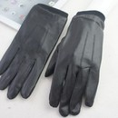 Custom DW-2009 Leather Stylus Gloves with Soft Fleece Lining