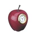 Custom DY-2046 Marble Apple Clockwooden Base Optional