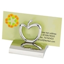 HY-6007AP Chrome Business Card Holder, Styles: Apple