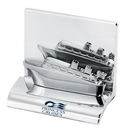 Custom HY-6007CS Chrome Business Card Holder, Styles: Ship