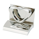 Custom HY-6007HT Chrome Business Card Holder, Styles: Heart