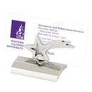 Custom HY-6007ST Chrome Business Card Holder, Styles: Star