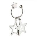 Custom KM-7013 Tri-Star Design Key Holder In Shiny Nickel Finish Over Alloy