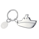 """Custom KM-7032 Shiny Nickel-Plated """", Cruise Liner"""", Key Holder with Tag"""